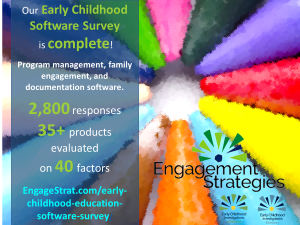 Early childhood education software survey